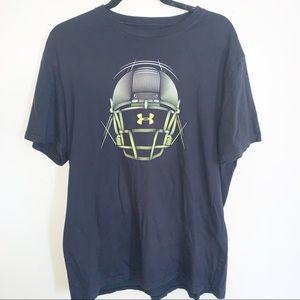 Under Armour Black Football Helmet Graphic T-Shirt